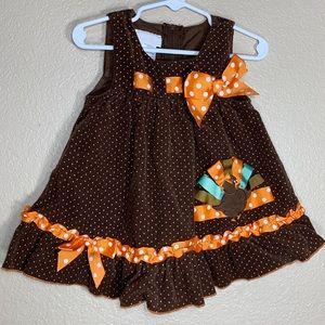 Bonnie Baby toddler girl Thanksgiving dress